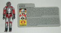 1986 GI Joe Cobra Terror Drome Firebat Pilot AVAC v1 Figure w/ File Card