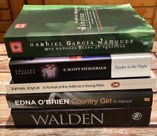 Literary classics book bundle- Joyce, F Scott Fitz, Garcia Marquez
