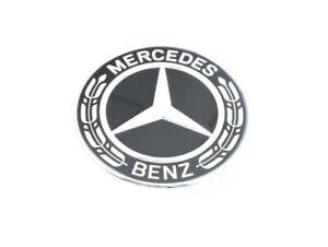 Mercedes Benz Genuine ML GL GLE-Class Hood Flat Star Emblem BLACK NEW