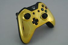 Microsoft Xbox One Wireless Controller Custom Chrome Gold