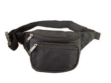 New Black Waist Fanny Pack Belt Bag Pouch Travel Sport Hip Purse Mens Womens