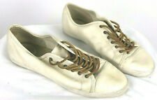 Frye Leather Sneaker Off White Mindy Lace Up Shoes Size 10M