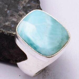 Larimar Ethnic Handmade Men's Ring Jewelry US Size-9 AR 44899