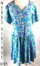 Cotton Blend Plus Size Tea Vintage Dresses for Women