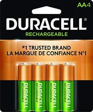 Duracell Pre Charged Rechargeable NiMH AA Batteries, X 4