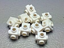 New Lego White Brick Modified 1X1 Stud With Studs On 4 Sides 4733 (x10)