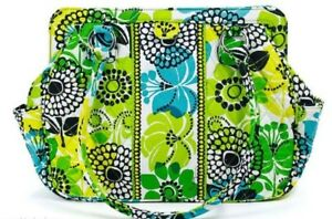 Vera Bradley Frame Bag Limes Up Handbag Purse Lime Green Yellow