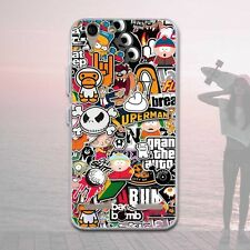 Classic Patterned Soft TPU Rubber Silicone Back Skin Case Cover For ASUS LG MOTO