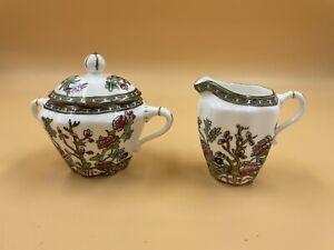 Coalport Indian Tree England Bone China Creamer and Covered Sugar Bowl