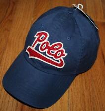 NEW NWT Mens Polo Ralph Lauren Baseball Hat Cap Pony Logo Adjustable Strap Blue