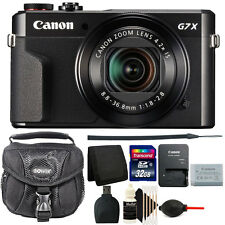 Canon G7X Mark II PowerShot 20.1MP Digital Camera (Black)+ 32GB Accessory Kit