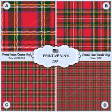 Christmas Tartan Plaid Patterned Iron on Vinyl, Printed Htv, Craft vinyl- 289