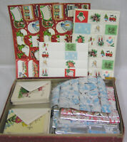 Vtg LOT 1940s-50s Christmas Stickers Seals Many Foil Seals Gift Cards Envelopes