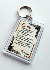 The Lords Prayer in Welsh - Acrylic keyfob