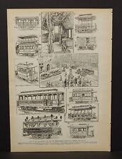 Harper's Weekly Single Pg History of the Street Car & Developement  1891 A9#82