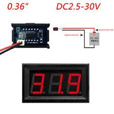 """0.36"""" Digital Voltmeter Panel DC 2.50~30V Voltage Mount LED Voltmeter Red dd"""