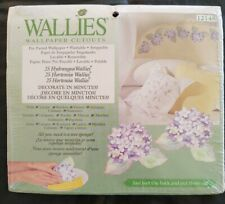 Wallies Purple Hydrangeas Flowers 12148 Wallpaper Cutouts Pre-Pasted Washable