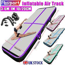 3/4/5/6m Air Track Floor Inflatable Airtrack Gymnastics Tumbling Mat GYM + Pump