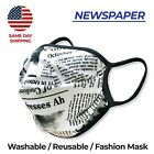 Washable Fashion Double Layer Fabric Face Mask - 3 Pack Made in USA NEW