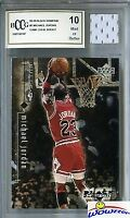 1998-99 Upper Deck Black Diamond#7 Michael Jordan w/GU JERSEY Beckett 10 MT GGUM
