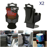 2X UNIVERSAL In Car Drinks Cup Bottle Can Bottle Holder Stand Foldable & Clip On