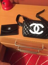 Cosmetic bag black with extra accessory new small new belt bag/ funny bag
