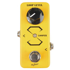 Mini 9V Looper Guitar Loop Effect Pedal Portable Aluminum Alloy 5 minutes Yellow