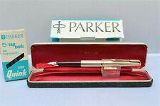 PARKER 65 CONSORT Vintage Fountain Pen- 12k Rolled Gold / 14k Gold Nib - SUPERB!