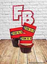 Personalised UK Style Ferrari Number Plate Cake Topper Wafer Cake Birthday Fun