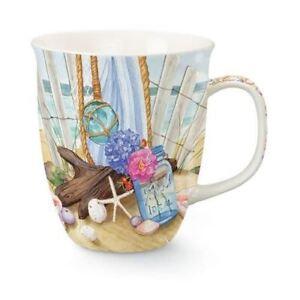 "Beach Theme ""Seaside Gathering"" Coffee Mug - Beach Theme Coffee Mug"
