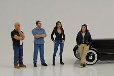Figur Figure Street Racing Crew Racer Set 4 pcs 1:18 American Diorama no car