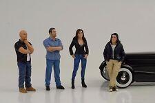 Figurine Figure Street Racing Crew Racer Set 4 pcs 1:18 AMERICAN DIORAMA NO CAR
