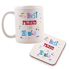 Best Friend in the World Mug and Coaster set. Birthday gift idea
