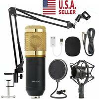 BM-800 Condenser Microphone Kit Studio Filter Boom Scissor Arm Stand Mount A