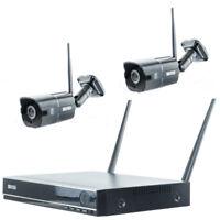 4-KANAL WLAN Komplettset Überwachungsset Full HD Überwachungskamera HDMI Funk IR
