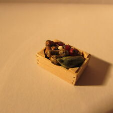 Artisan made doll house miniature food~crate of veg~1/24 scale~
