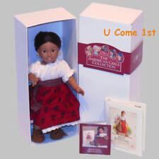 Mini Josefina Doll~Glass Eyes! Pleasant Company~American Girl~Hair Ribbon~Flower