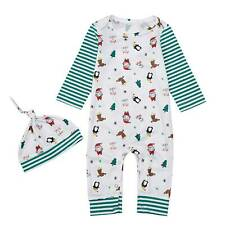 2pcs/Set Baby Christmas Xmas Party Romper + Indian Hat Casual Clothes Outfits