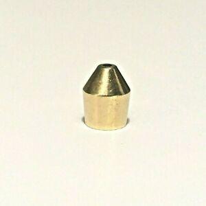 La Pavoni Gaggia Latte art Single Hole Polished Brass Pointed Nozzle Steam Tip