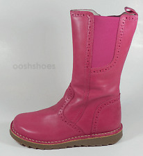 BO-Bell GIRLS PUPPY 22 Rosa in Pelle Con Cerniera Boots UK 7 EU 24 US 7.5 RRP £ 62.00