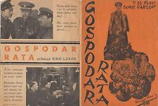 WEST OF SHANGHAI-BORIS KARLOFF-EXTRA RARE ORIGINAL YUGOSLAV MOVIE PROGRAM 1937