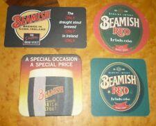 Collectable beer coasters: Set of 4 Beamish Irish Ale coasters (IRELAND)