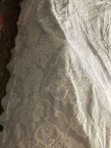 Pottery Barn Gray White Paisley Duvet Cover Cal King