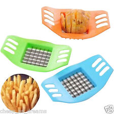 FRENCH FRY POTATO CHIP CUT CUTTER VEGETABLE FRUIT SLICER/DICER FREE P&P