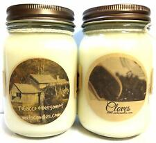 COMBO - Cloves and Tobacco Bergmot - Set of Two 16oz All Natural Country Jar Soy