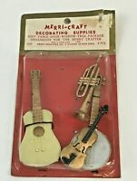 Vintage Dollhouse Miniature Musical Instrument Lot Plastic Guitar Trombone Craft