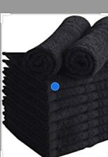 black bleachproof 100% cotton salon towels