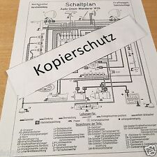 Auto Union Wanderer W 24 WH Ausführung, Schaltplan elektrische Anlage