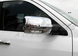 Chrome Mirror Covers WITH Turn Signal Cut-Outs FOR 2013-2018 Dodge RAM 1500 2500