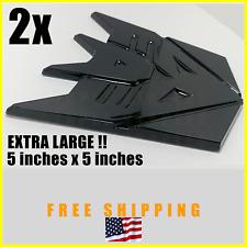 2x Huge, 5inches Transformers TF Decepticons Gloss Black Bagde Emblem Logo Trunk